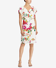 Lauren Ralph Lauren Floral Flutter-Sleeve Dress