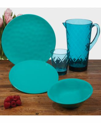 Teal Set of Melamine 6 All-Purpose Bowls