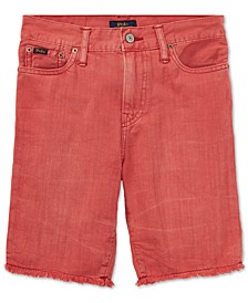 Cotton Denim Cutoff Shorts, Little Boys