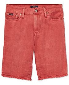 Polo Ralph Lauren Cotton Denim Cutoff Shorts, Little Boys