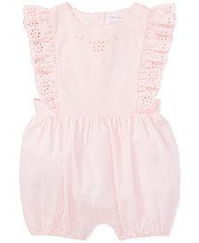 Polo Ralph Lauren Baby Girls Ruffled Cotton Eyelet Romper