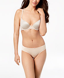 I.N.C. Smooth & Lace Racerback Demi Bra & Lace-Back Hipster, Created for Macy's