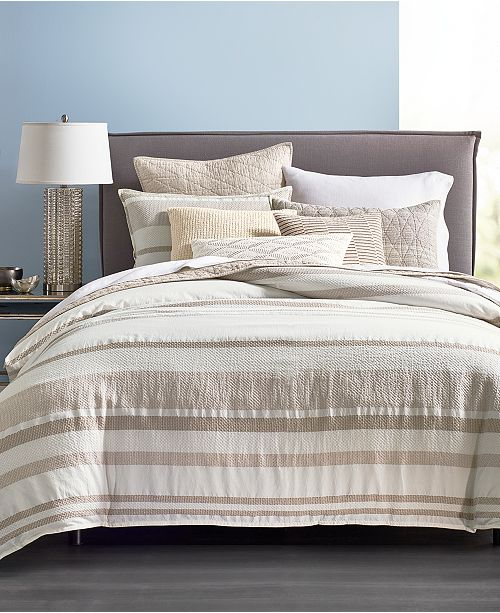 Hotel Collection CLOSEOUT! Honeycomb Full/Queen Duvet Cover, Created for Macy's