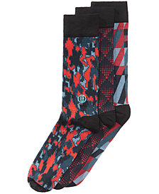 TallOrder Men's Big & Tall 3-Pk. Printed Dress Socks