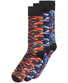 Tall Order Men's Big & Tall 3-Pk. Printed Dress Socks