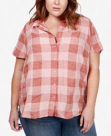 Lucky Brand Trendy Plus Size Plaid Shirt