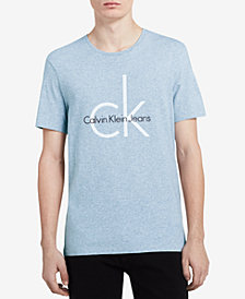 Calvin Klein Jeans Men's Big & Tall Classic CK Logo-Print T-Shirt