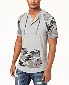 American Rag Men's Camo Colorblocked Hoodie, Created for Macy's