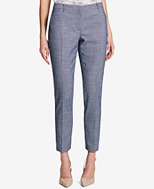 Tommy Hilfiger Tweed Ankle Pants