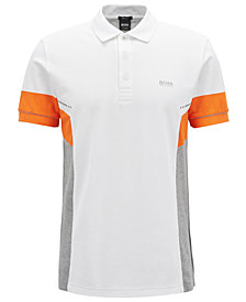 BOSS Men's Regular/Classic-Fit Cotton Colorblocked Polo Shirt