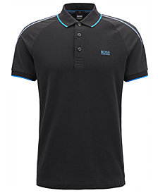 BOSS Men's Slim-Fit Striped Piqué Polo Shirt