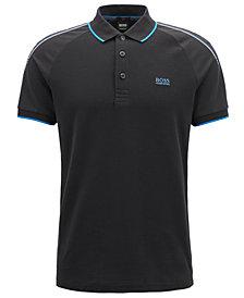 BOSS Men's Slim-Fit Striped Piqué Polo Shirt