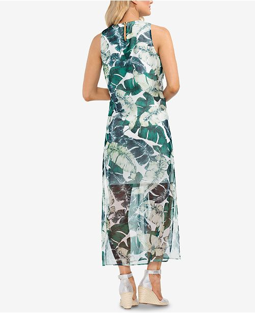 Maxi Dress Printed New Ivory Camuto Vince StEv0