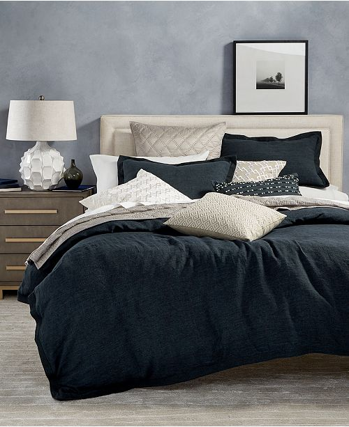 Hotel Collection CLOSEOUT! Linen Bedding Collection, Created for Macy's