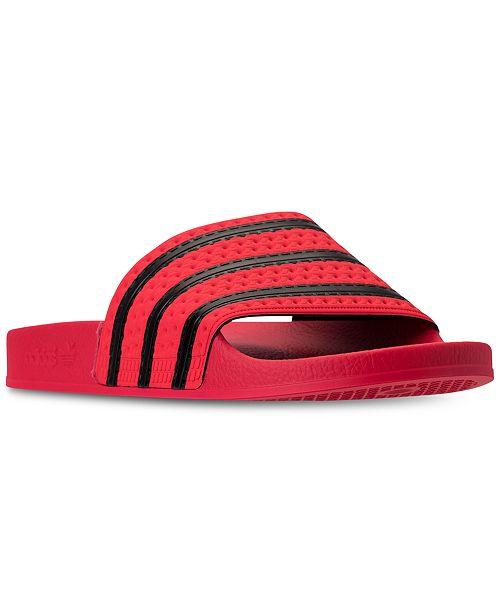 c6cc5540 adidas Men's Adilette Slide Sandals from Finish Line & Reviews ...