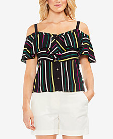 Vince Camuto Paradise Striped Off-The-Shoulder Top