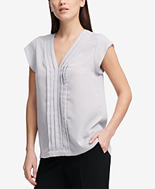 DKNY Pleated-Front Top, Created for Macy's