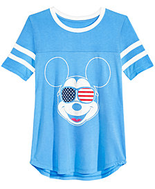 Disney Big Girls Mickey Mouse Football T-Shirt