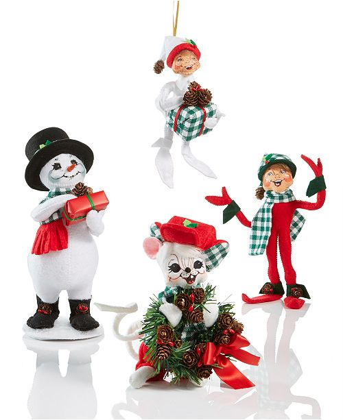 holiday whimsy with an alpine touch annalees northwoods collection features a delightful array of elves snowmen and woodland creatures clad in buffalo - Annalee Christmas Decorations