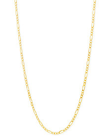 "Italian Gold Figaro Chain 22"" Necklace (2-3/8mm) in 18k Gold"