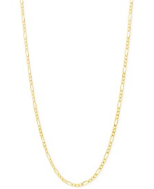 """Italian Gold Figaro Chain 22"""" Necklace (2-3/8mm) in 18k Gold"""