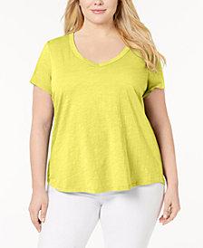 Eileen Fisher Plus Size Organic Cotton T-Shirt