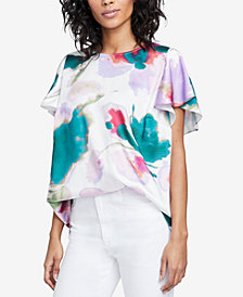 RACHEL Rachel Roy Amalfi Floral-Print Top, Created for Macy's