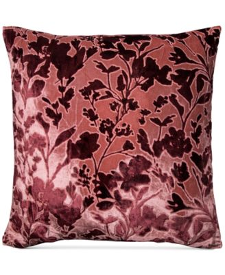 """Misha Handcrafted Burnout Velvet Jacquard 20"""" Square Decorative Pillow, Created for Macy's"""