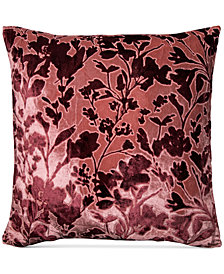 "Lacourte Misha Handcrafted Burnout Velvet Jacquard 20"" Square Decorative Pillow, Created for Macy's"