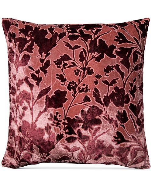 "Lacourte Misha Handcrafted Burnout Velvet Jacquard 20"" Square Decorative Pillow, Created for Macy's"