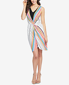 RACHEL Rachel Roy Striped Twist-Front Dress, Created for Macy's