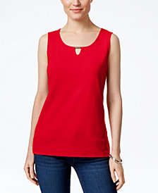 Karen Scott Keyhole Tank Top, Created for Macy's