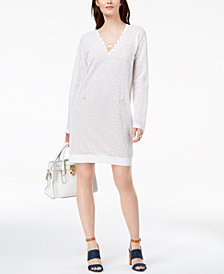 MICHAEL Michael Kors Lace Sweater Dress
