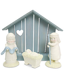 Department 56 Snowbabies Peace Nativity, Set of 4