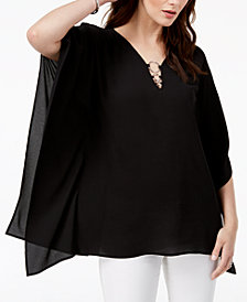 MICHAEL Michael Kors O-Ring Poncho Top