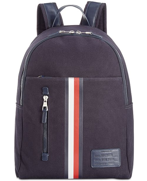 374e46ad5d Tommy Hilfiger Men's Harrison Canvas Backpack & Reviews - All ...