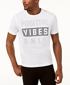 Sean John Men's Positive Vibes Only Mini-Stud T-Shirt