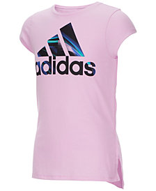 adidas Little Girls Logo-Print T-Shirt