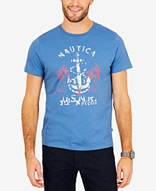Nautica Men's Anchor & Palm Graphic-Print T-Shirt