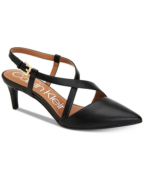 a2aa94f3b8c Calvin Klein Women s Paula Pumps   Reviews - Pumps - Shoes - Macy s
