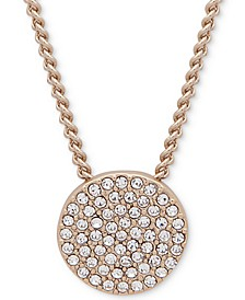 "Pavé Disc 19"" Pendant Necklace, Created for Macy's"