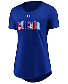 Under Armour Women's Chicago Cubs Team Font Scoop T-Shirt