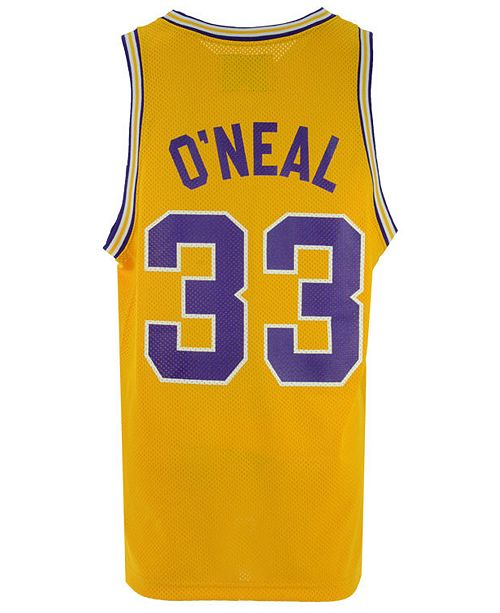 463e413cb2c3 ... Retro Brand Men s Shaquille O Neal LSU Tigers Throwback Basketball  Jersey ...