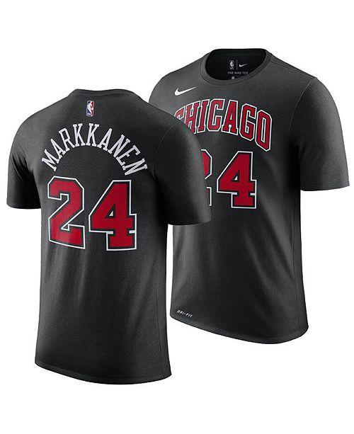 newest 9849e ccbbc Men's Lauri Markkanen Chicago Bulls Statement Player T-Shirt