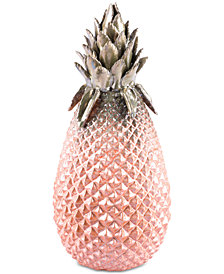 Zuo Metallic Large Pineapple Green & Pink