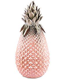 Zuo Metallic Large Pineapple Green & Pink