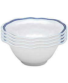"Q Squared	Portsmouth 4-Pc. Melamine 6.5"" Cereal Bowl Set"