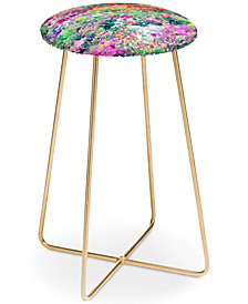 Deny Designs Jacqueline Maldonado Secret Garden Counter Stool