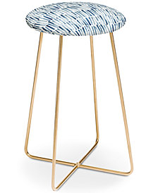 Deny Designs Dash and Ash Strokes and Waves Counter Stool