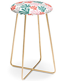 Deny Designs Zoe Wodarz Scattered Coral Counter Stool